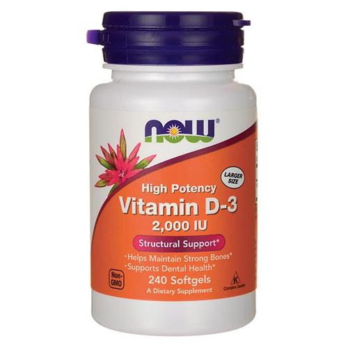 Витамин D3 2000 МЕ 240 капс. NOW